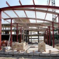 Nave industrial, estructura curva
