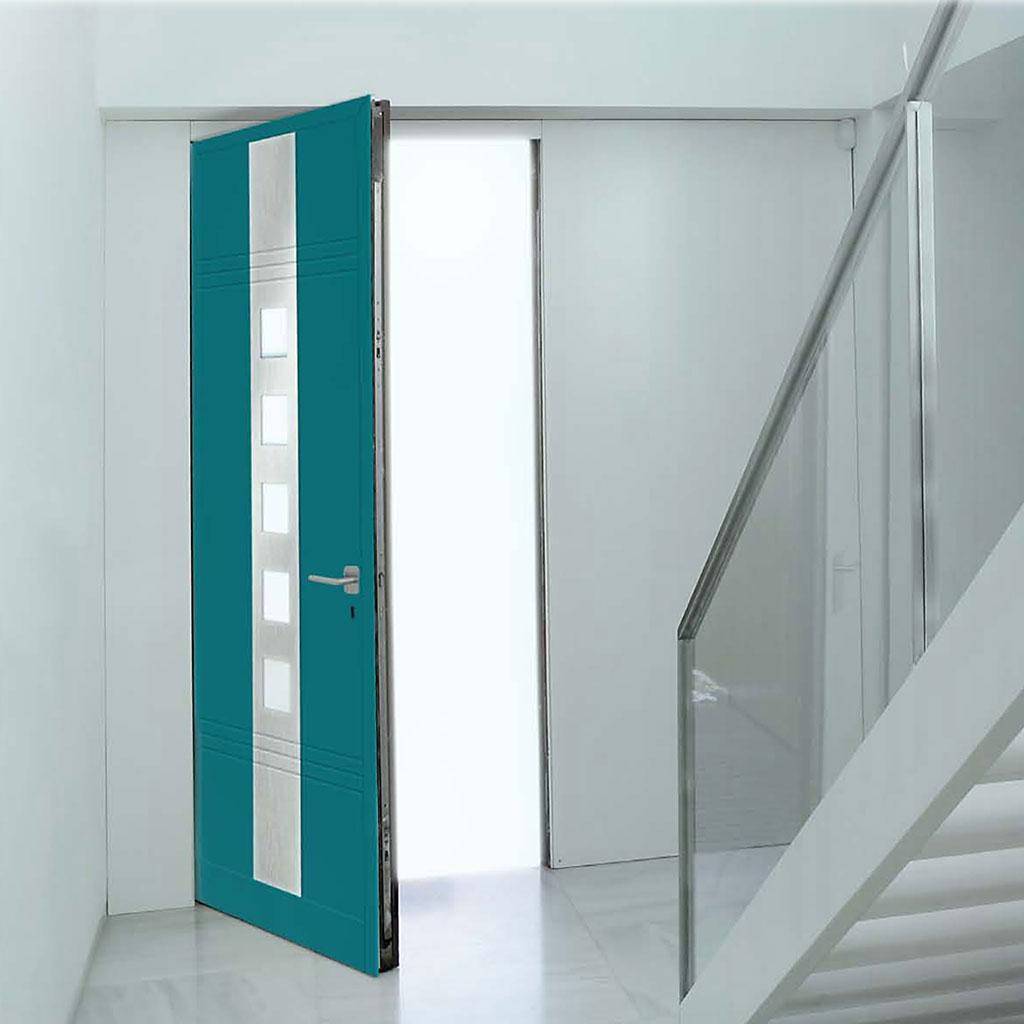 Puertas peatonales metalicas iscar estructuras de - Puertas entrada aluminio ...